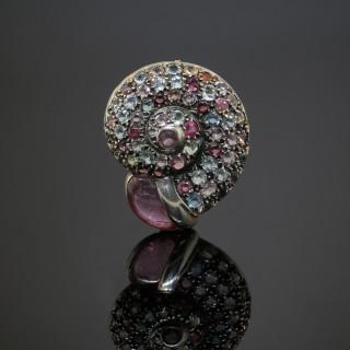 A Gem-set Ammonite Brooch by Maison Boivin