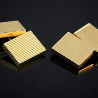 A Pair of Gold Cufflinks by Van Cleef & Arpels