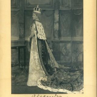 Queen Alexandra, Coronation, signed photograph