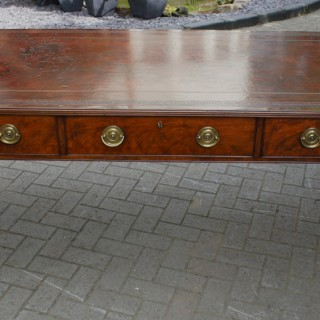Antique Georgian Library Table or Writers Desk