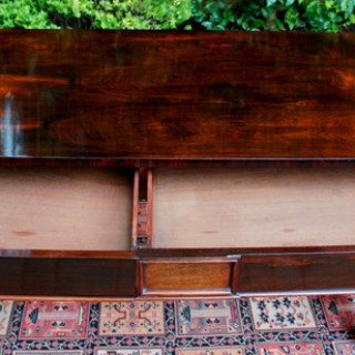 Antique Rosewood Writing Table or Sofa Table