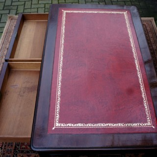 Antique Mahogany Writing Table or Writers Desk