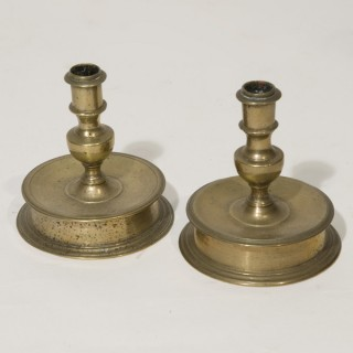 A Pair of 16th Century Flemish Candlesticks