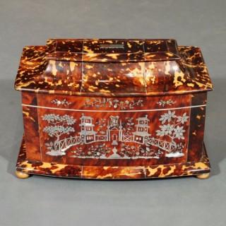 A Regency Period Silver Strung Tea Caddy