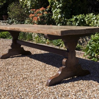 Late 19th Century Continental Beech Refectory Table