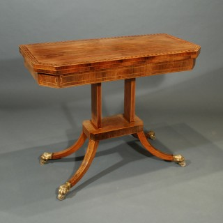 A Regency Period Rosewood Card Table