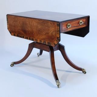 A Regency Mahogany and Calamander Crossbanded Pembroke Table