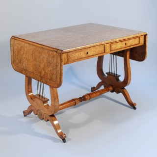 An Early 19th Century Continental Wild Ash Sofa Table (c. 1815 Continental)