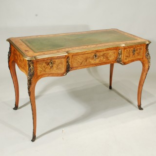 A Mid 19th Century English Marquetry Writing Desk