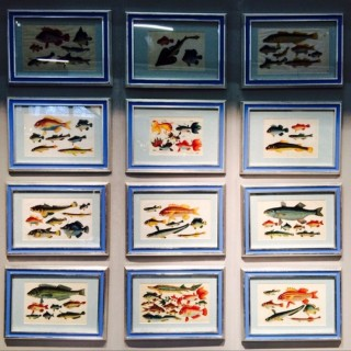 Set of 12 Chinese Watercolours Of Fish