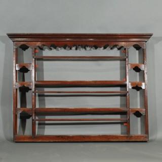A George III Oak Delft Rack