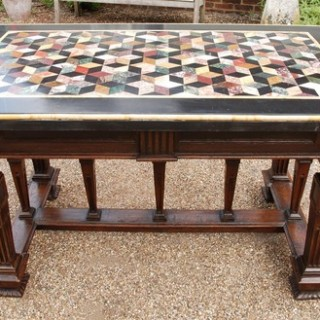 A 19th Century Renaissance Styled Pietro Dura Table