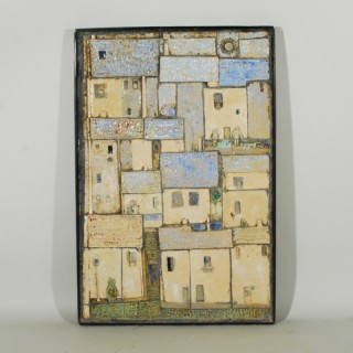 A 20th Century Panel of Glazed Ceramic Plaques