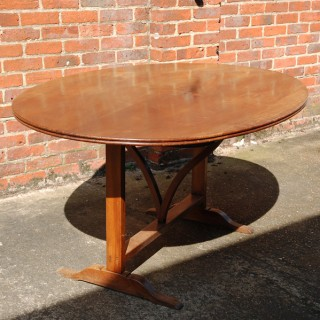 Early 19th Century Walnut Tilt Top Wine Tasting Table