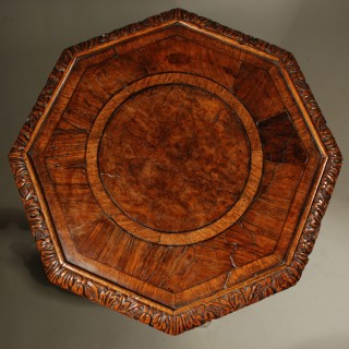A William and Mary Period Walnut Candlestand