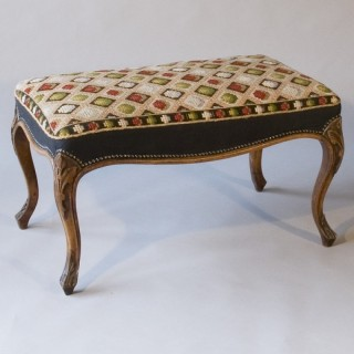 A Mid-19th Century Walnut Stool