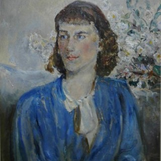 Isabel - Portrait of a Girl in Blue - Dame Ethel Walker