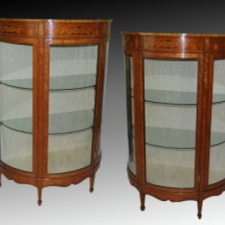 Pair of Victorian Cabinet Vitrines