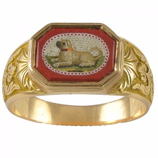 A Micromosaic Gold Ring