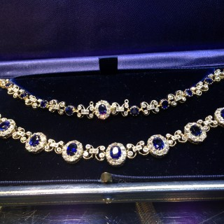 A rare Burma sapphire and diamond necklace