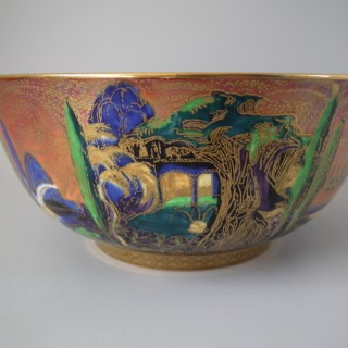 Wedgwood Flame Fairyland Lustre 'Poplar Trees' Imperial bowl