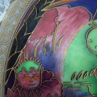 Wedgwood Fairyland lustre 'Roc Centre' Lincoln plate