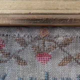 Antique Sampler, 1821 House Sampler by Mary Hassack