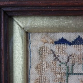 Antique Sampler, 1836, St Paul's Chapel by Rachel Smith