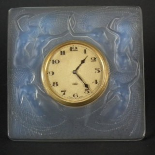 René Lalique Opalescent Glass 'Naiades' Clock