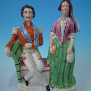 Staffordshire Florence Nightingale titled figure