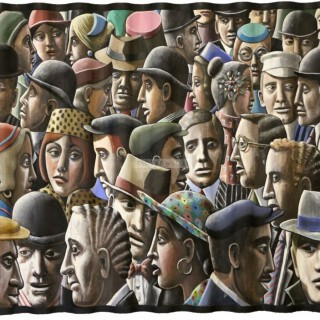 Big City Oil on canvas by PJ Crook