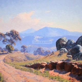 Granite Tors Adminaby Oil on canvas by Warwick Fuller