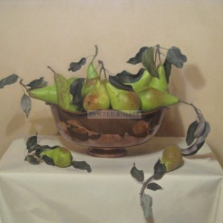 Pears and Copper Bowl by Sian Hopkinson