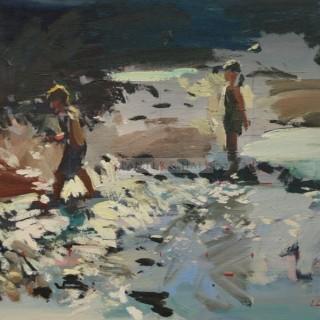 Making a Splash by Luke Martineau (British contemporary)