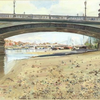 Battersea Bridge by Luke Martineau (British contemporary)