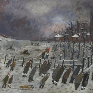Sledging Track by Malcolm Teasdale (British contemporary)
