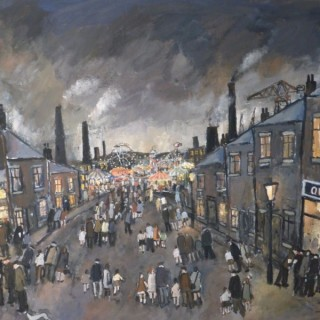 Town Fair by Malcolm Teasdale (British contemporary)