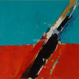Composition Blue and Orange by Donald Hamilton Fraser RA (1926-2009)