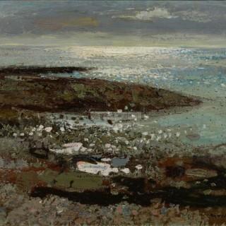The Sea at Benham by Alberto Morrocco OBE RSA RP RSW RGI (1917-1998)