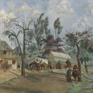 Racing Stables by Mary Viola Paterson (1899-1981)