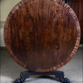 A William IV period mahogany circular centre table
