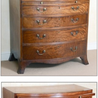 A fine quality late 18th century bow-front chest of drawers