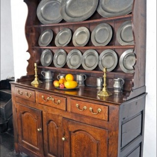 Mid 18th century joined enclosed high dresser