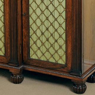 Early Regency period rosewood breakfront cabinet or chiffonier