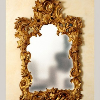 Irish Georgian Carved Giltwood Mirror