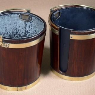 George III Mahogany Plate Buckets