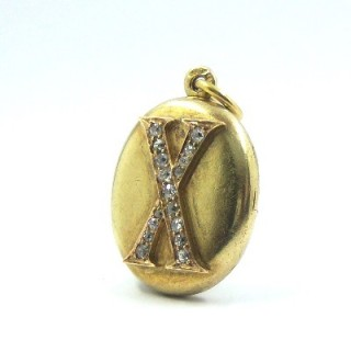 A rare Russian Belle Epoque diamond locket pendant