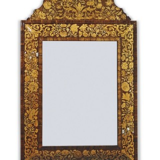 WILLIAM AND MARY MARQUETRY MIRROR