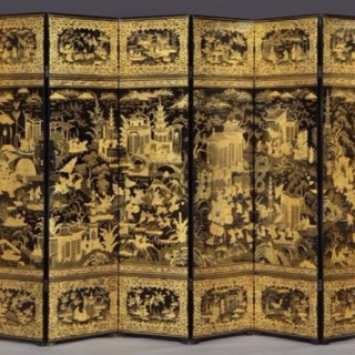 CHINESE EXPORT LACQUER SCREEN