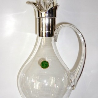 Silver and glass Claret Jug